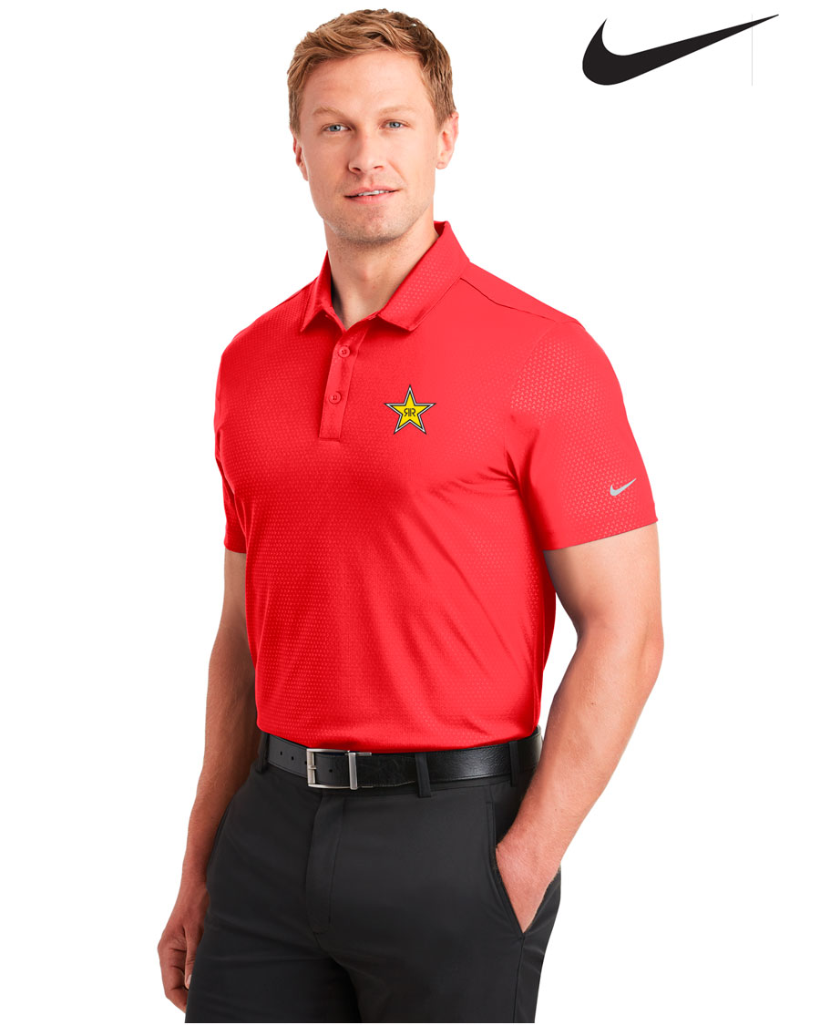 Nike Golf Men's Dri-FIT Embossed Tri-Blade Polo - Rockstar