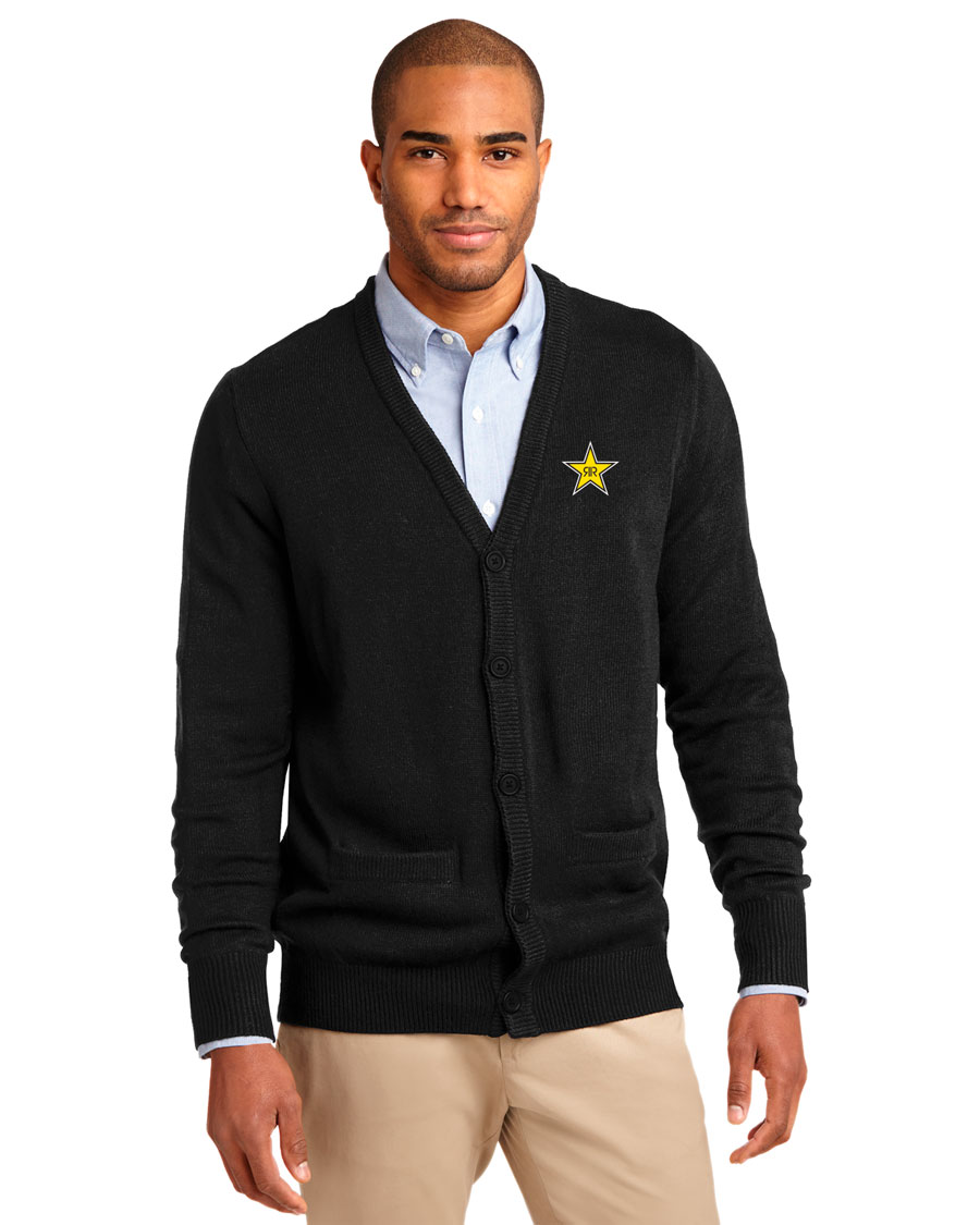 Men's Value V-Neck Cardigan Sweater with Pockets - Rockstar