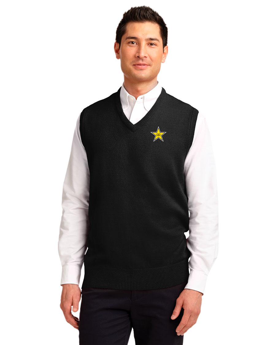 Men's Value V-Neck Sweater Vest - Rockstar