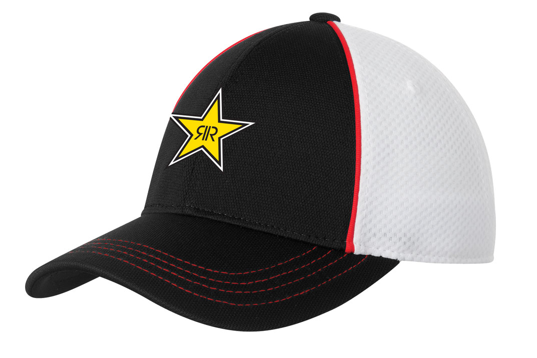 Piped Mesh Back Cap - Rockstar