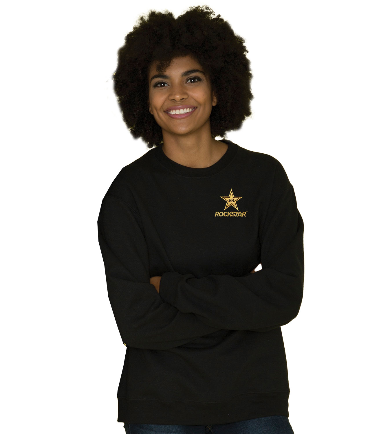 EVERYDAY FLEECE CREWNECK SWEATSHIRT - ROCKSTAR