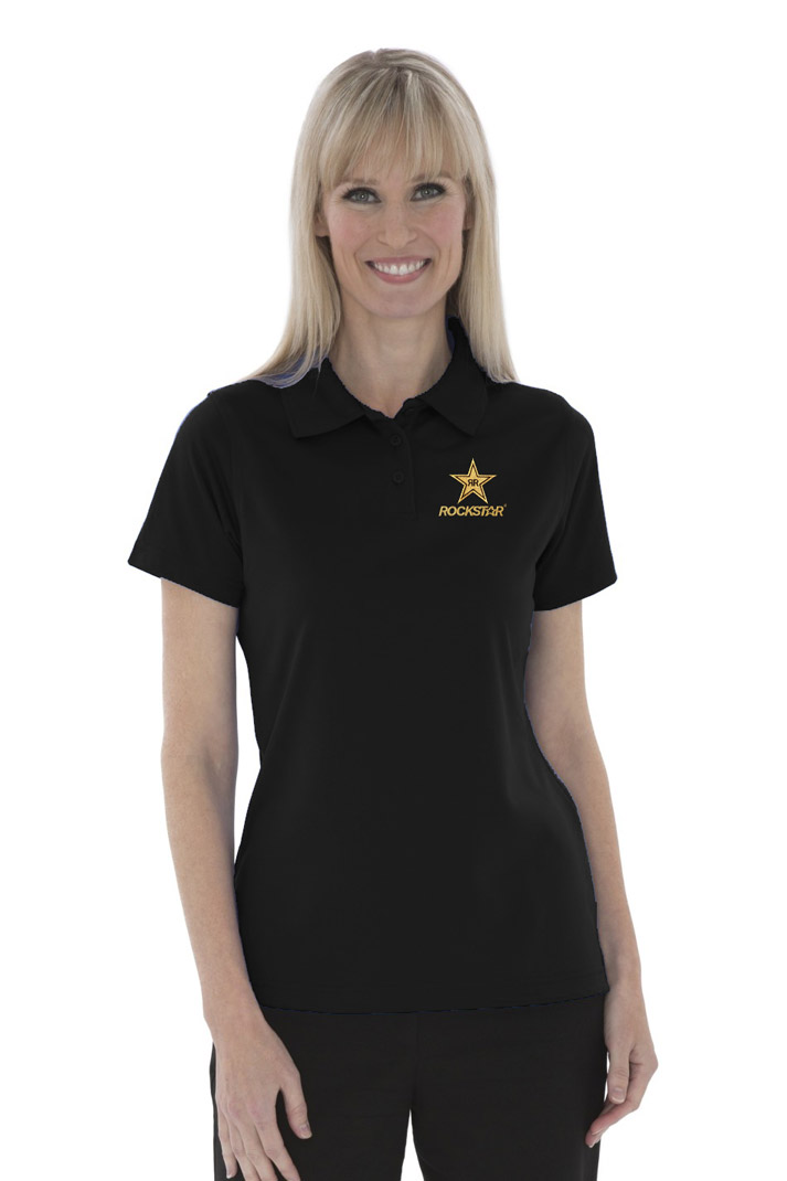 Ladies' 100% Polyester Snag Proof Power Sport Shirt  - ROCKSTAR