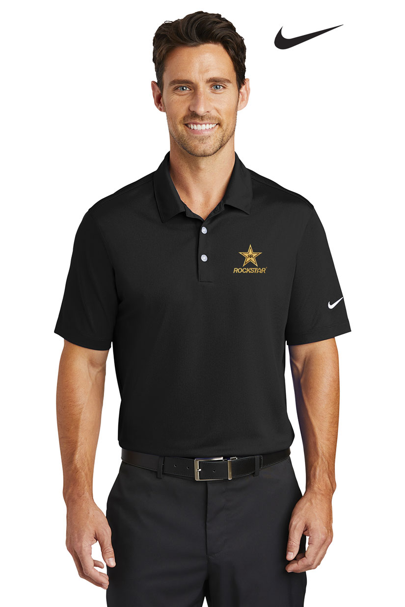 Men's Nike Golf Dri-FIT Vertical Mesh Polo - ROCKSTAR