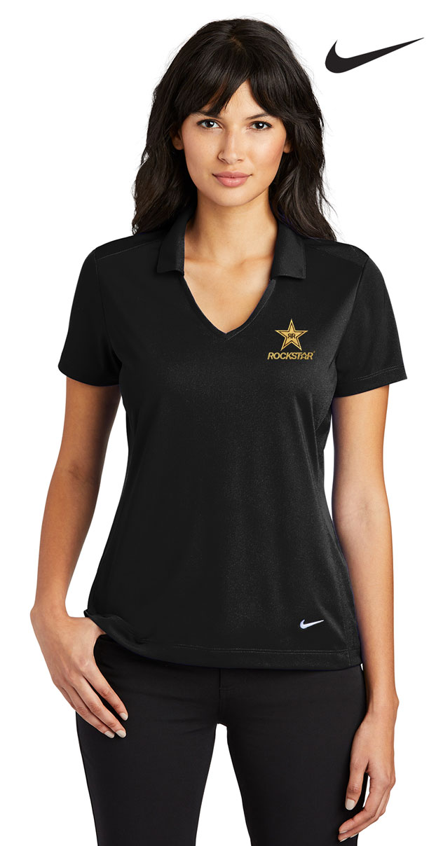 Nike Golf Ladies Dri-FIT Vertical Mesh Polo - ROCKSTAR