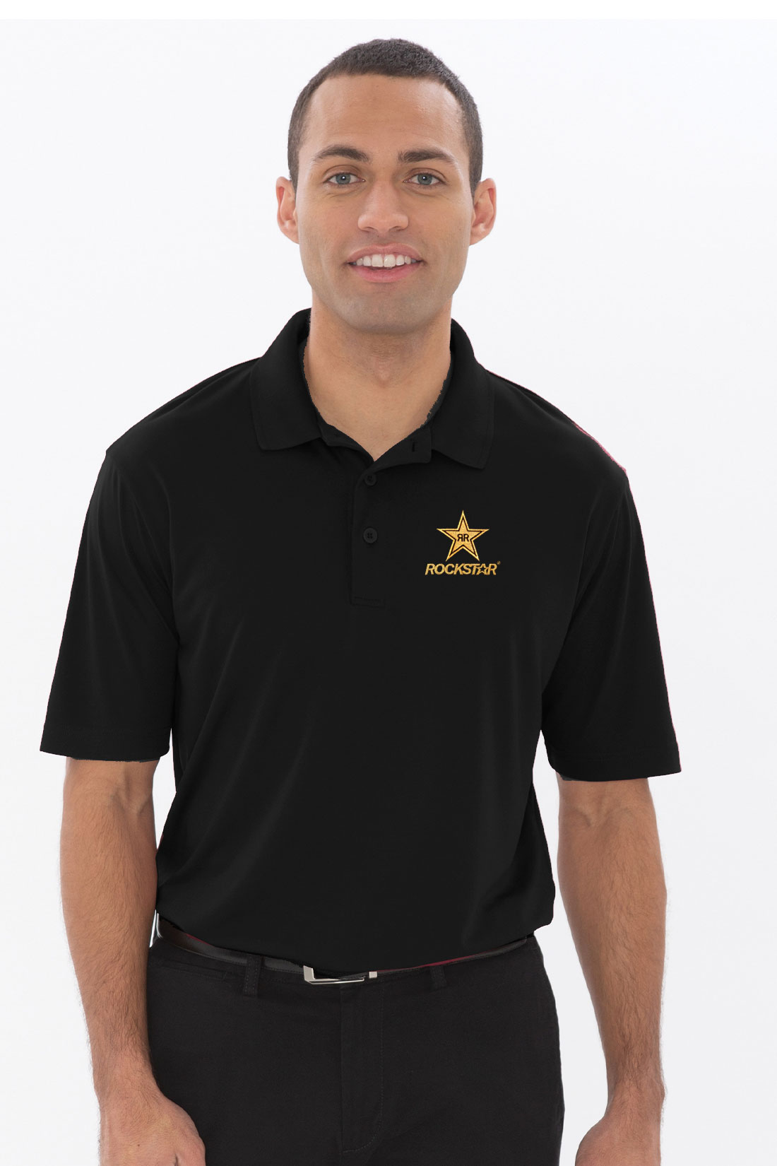 100% Polyester Snag Proof Power Sport Shirt  - ROCKSTAR