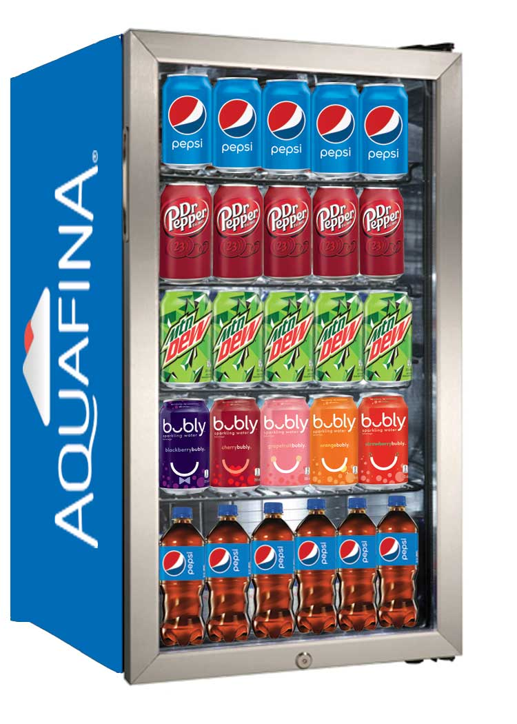 Beverage Center - Fridge - Aquafina