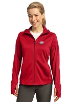 Sport-Tek® - Ladies' Tech Fleece Full-Zip Hooded Jacket - Dr.Pepper