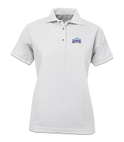 Ladies' Desert Sands Golf Shirt - Aquafina (White)