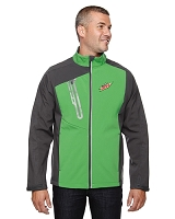 Terrain Men's Colour-Block Soft Shell Jacket - MTN Dew