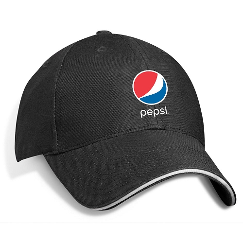 Structed Bamboo Contrasting Sandwich Cap - Pepsi