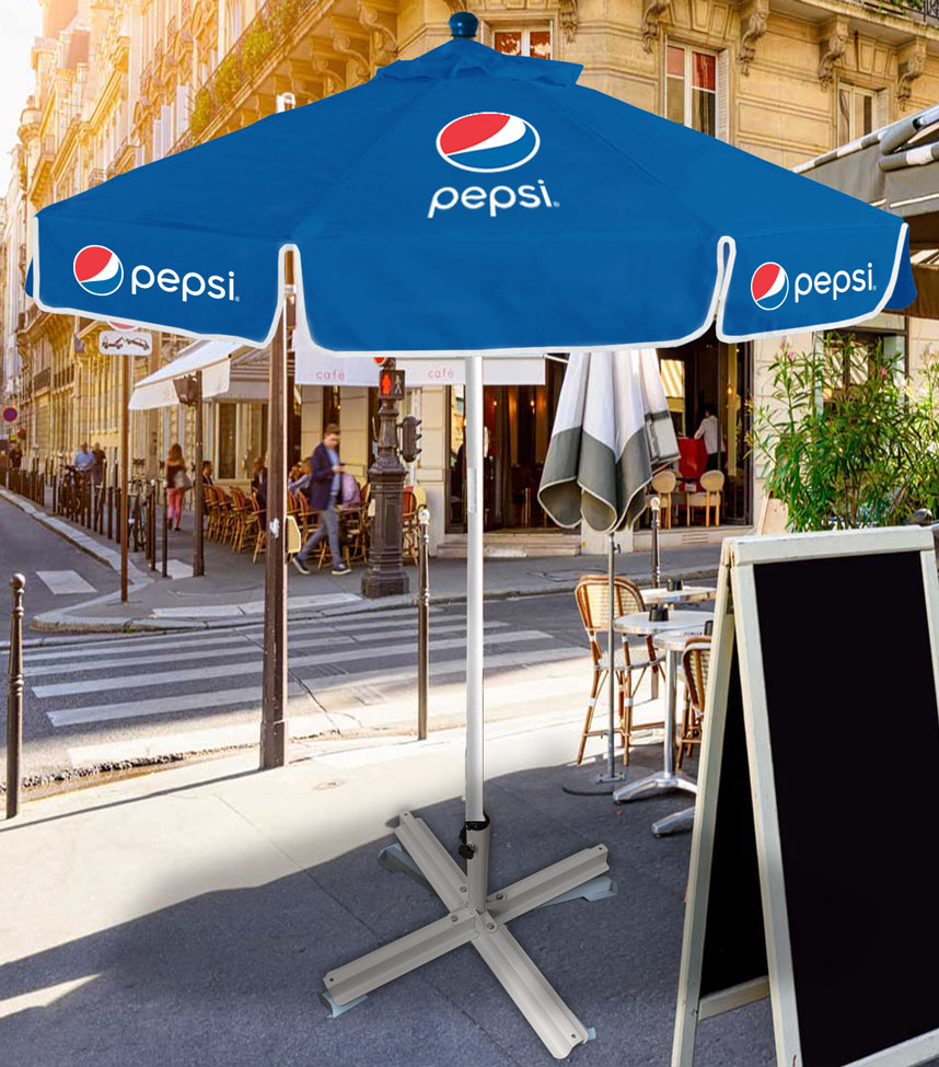 7ft Metal Canopy Umbrella - Pepsi