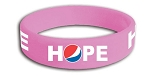 HOPE Debossed Silicone Bracelet - Awareness