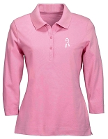 Ladies' 3/4 Sleeve Stretch Jersey Polo - Awareness