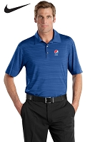 Nike Golf - Elite Series Dri-FIT Heather Fine Line Bonded Polo - Pepsi