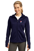 Sport-Tek® - Ladies' Tech Fleece Full-Zip Hooded Jacket - Pepsi