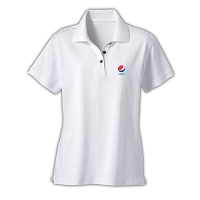 Ladies' Desert Sands Golf Shirt - Pepsi (White)