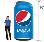 Inflatable Pepsi Can - 10'