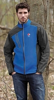 Terrain Men's Colour-Block Soft Shell Jacket - Pepsi