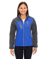Terrain Ladies' Colour-Block Soft Shell Jacket - Pepsi