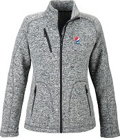 Peak Ladies' Sweater Fleece Jacket - Pepsi