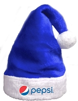 Pepsi Super Plush Style Santa Hat