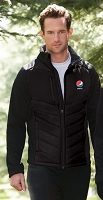 Men's Insulated Hybrid Bonded Fleece Jacket - Pepsi
