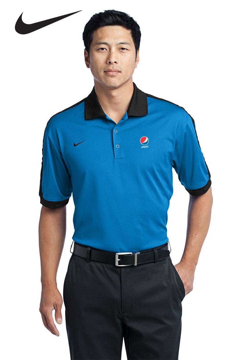 Nike Golf Dri Fit N98 Polo Blue Pepsi