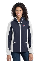 Port Authority - Ladies' Gradient Hooded Soft Shell Jacket - Pepsi
