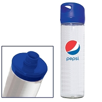 500 ML. (16 OZ.) SINGLE WALL GLASS WIDE MOUTH WATER BOTTLE