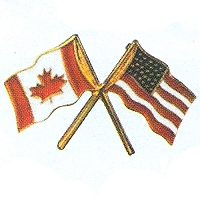 Lapel Flag Pin - Canada and USA