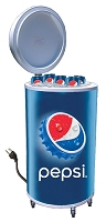 Cooler Fridge on Wheels - Pepsi Bottlecap