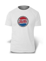 Artistic T-Shirt - Pepsi-Cola Bottle Cap - White
