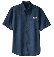 Mens Short Sleeve Value Denim Shirt