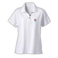 Ladies' Desert Sands Golf Shirt - Diet Pepsi (White