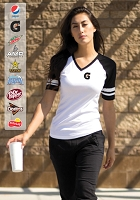 EUROSPUN® RING SPUN BASEBALL LADIES' TEE