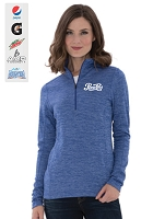 DYNAMIC HEATHER FLEECE 1/2 ZIP LADIES' SWEATSHIRT
