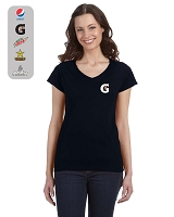 Ladies' Softstyle® 7.5 oz./lin. yd. V-Neck T-Shirt