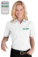 Women's Blended Poplin Short Sleeve Shirt......Please Login To see our very Special Pricing