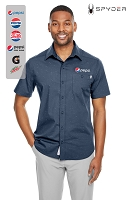 Spyder Men's Stryke Woven Short-Sleeve Shirt