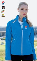 Excursion Ladies Soft Shell Jacket With Laser Stitch Accents