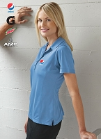 Ladies' Snag Resistant Contrast Stitch Sport Shirt