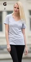Ladies' Eurospun V-Neck Tee