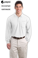 Men's Long Sleeve Silk Touch  Polo with Pocket