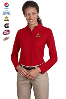 Ladies Long Sleeve Silk Touch  Polo