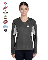 Ladies' Excel Mélange Interlock Performance Warm-Up