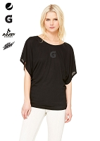 Ladies' Flowy Draped Sleeve Dolman Tee