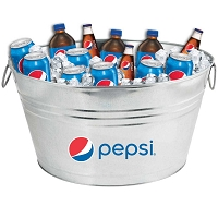 Oval Galvanized Metal Tub - Pepsi