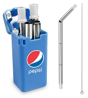 Stainless Steel Straw - Pepsi