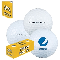 Titleist Pro V1 Refinished Golf Ball - Pepsi