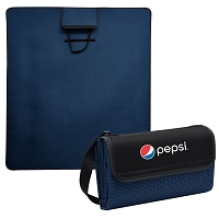 Hunter Houndstooth Roll-Up Picnic Blanket - Pepsi